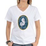 USS HUGH PURVIS Women's V-Neck T-Shirt