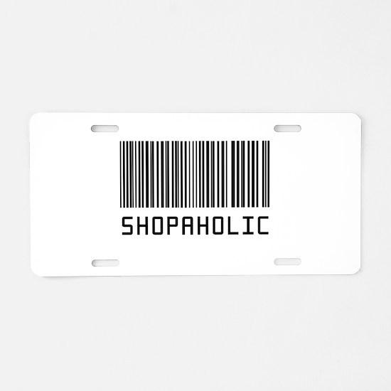 Cute Shopaholic Aluminum License Plate