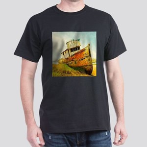 rustic lake landscape boat T-Shirt