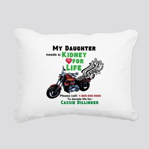 personalize/donor Rectangular Canvas Pillow