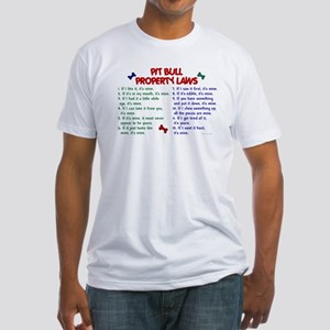 Pit Bull Property Laws Fitted T-Shirt
