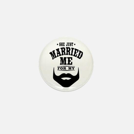 Married Beard Mini Button (10 pack)