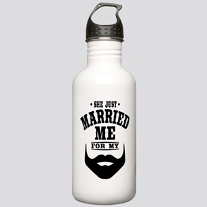 Married Beard Stainless Water Bottle 1.0L