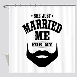 Married Beard Shower Curtain