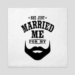 Married Beard Queen Duvet