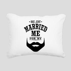 Married Beard Rectangular Canvas Pillow