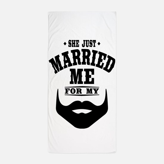 Married Beard Beach Towel