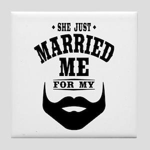 Married Beard Tile Coaster