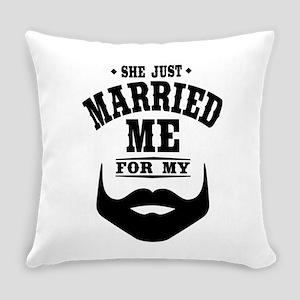 Married Beard Everyday Pillow