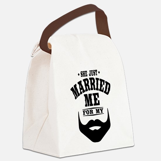 Married Beard Canvas Lunch Bag