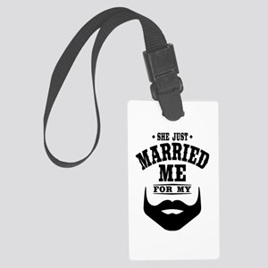 Married Beard Large Luggage Tag