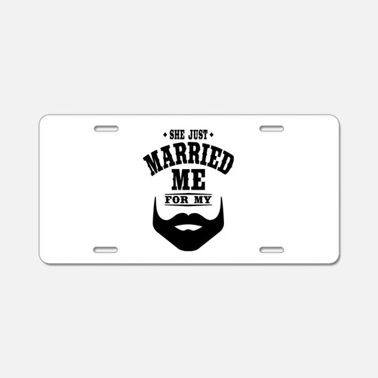 Married Beard Aluminum License Plate