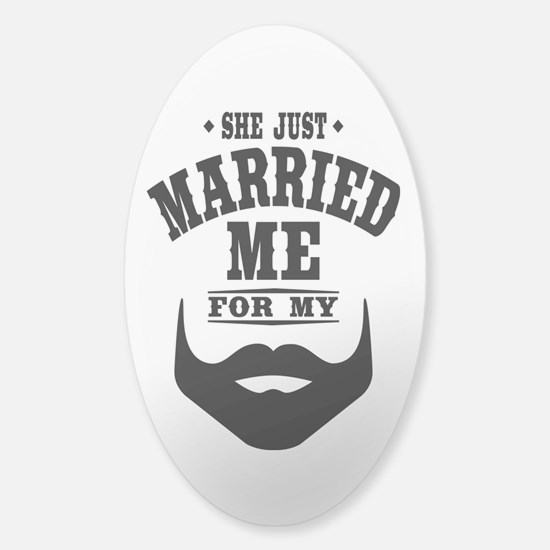 Married Beard Sticker (Oval)