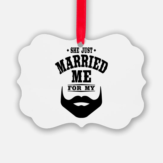 Married Beard Ornament