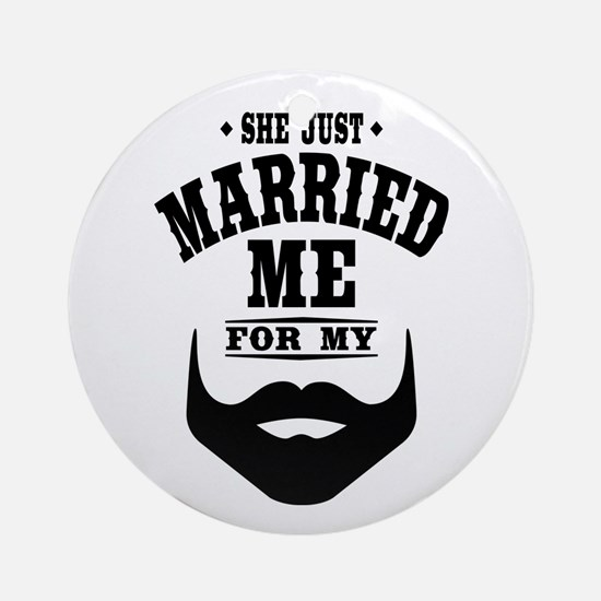 Married Beard Ornament (Round)