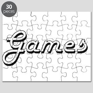 Games Classic Retro Design Puzzle