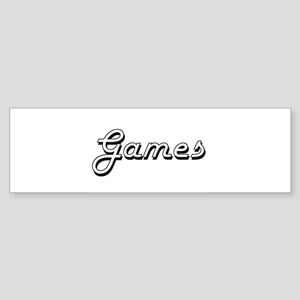 Games Classic Retro Design Bumper Sticker
