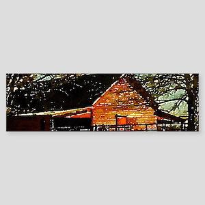 autumn farm landscape barn Bumper Sticker
