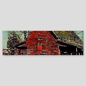 western country red barn Bumper Sticker
