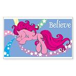 Pink Unicorn Rectangle Sticker