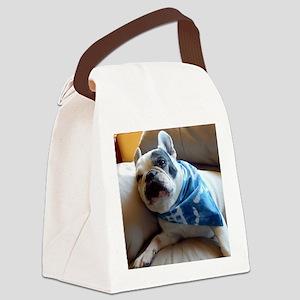 French Bulldog Pied Canvas Lunch Bag