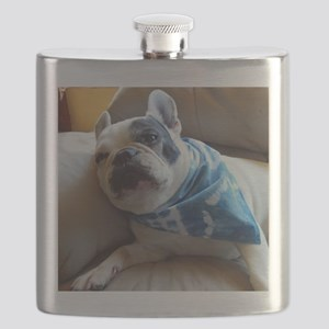 French Bulldog Pied Flask
