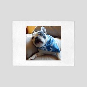 French Bulldog Pied 5'x7'Area Rug