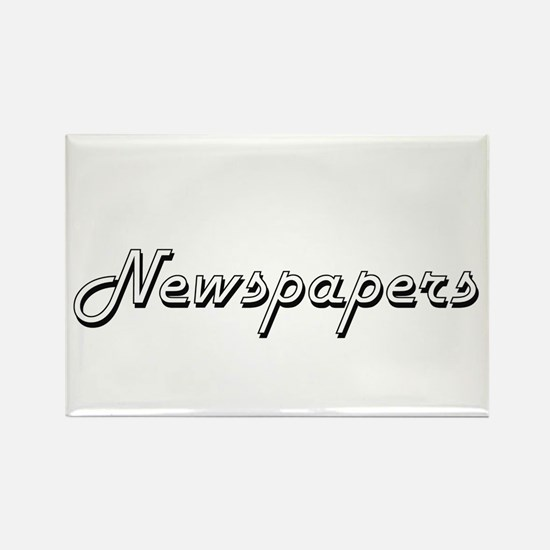 Newspapers Classic Retro Design Magnets
