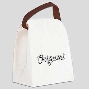 Origami Classic Retro Design Canvas Lunch Bag
