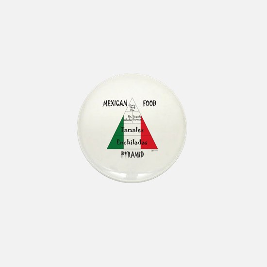 Mexican Food Pyramid Mini Button