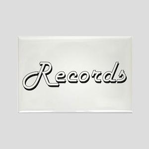 Records Classic Retro Design Magnets