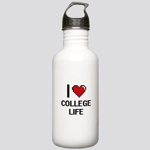 I Love College Life Di Stainless Water Bottle 1.0L