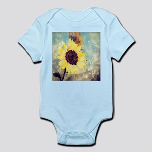 romantic summer watercolor sunflower Body Suit