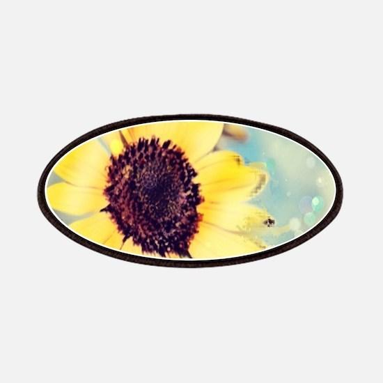romantic summer watercolor sunflower Patch