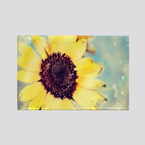 romantic summer watercolor sunflower Magnets