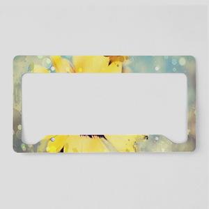 romantic summer watercolor su License Plate Holder
