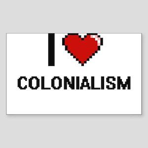 I love Colonialism Digitial Design Sticker