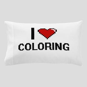 I Love Coloring Digitial Design Pillow Case