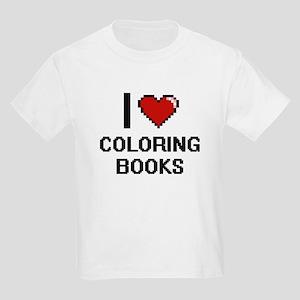 I love Coloring Books Digitial Design T-Shirt