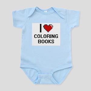 I love Coloring Books Digitial Design Body Suit
