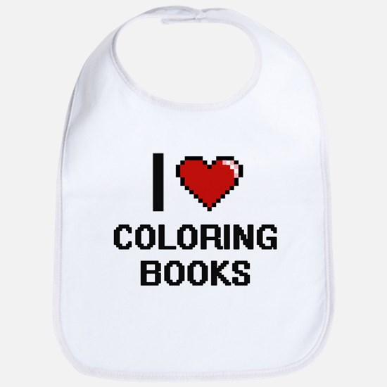 I love Coloring Books Digitial Design Bib