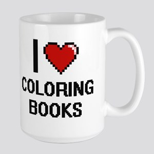 I love Coloring Books Digitial Design Mugs