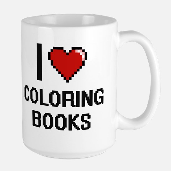 I love Coloring Books Digitial Design Mugs