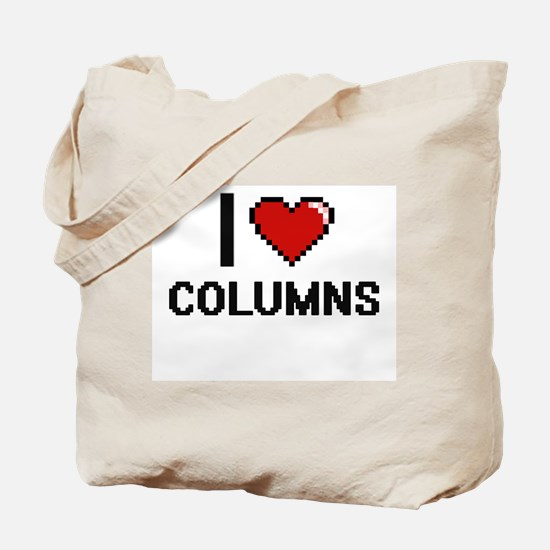 I love Columns Digitial Design Tote Bag