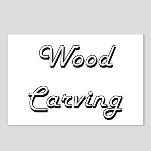 Wood Carving Classic Retr Postcards (Package of 8)