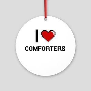 I love Comforters Digitial Design Ornament (Round)