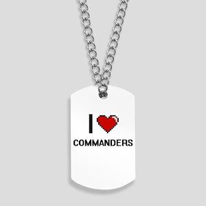 I love Commanders Digitial Design Dog Tags