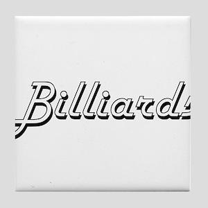 Billiards Classic Retro Design Tile Coaster