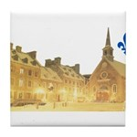 Inside Old Quebec with Lys Tile Coaster