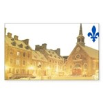 Inside Old Quebec with Lys Rectangle Sticker